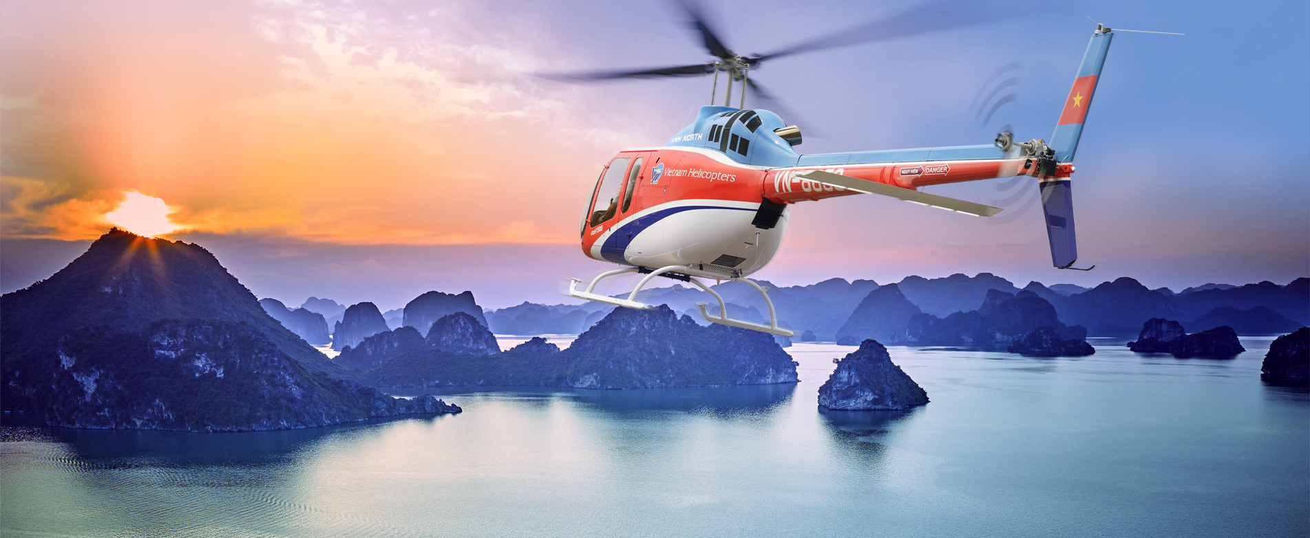 Halong from the Sky with Bell 505