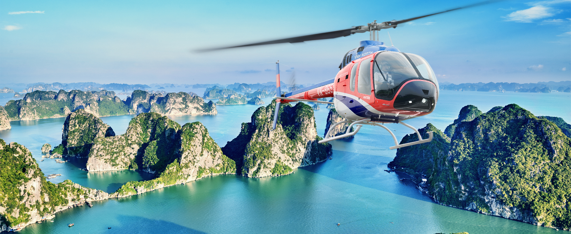 Halong Heli Tours provides the perfect platform for your once in a lifetime experience