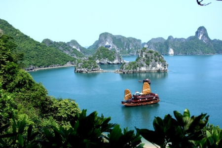 The scenic beauty of Ha Long Bay